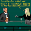 Cartoon: Bargespräche 18 (small) by PuzzleVisions tagged puzzlevisions pillendose contraceptives pillbox bar talks bargespräche