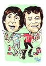 Cartoon: Moony and Ollie (small) by Marty Street tagged keith,moon,oliver,reed,mod