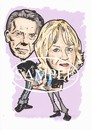 Cartoon: Pinups 2014 (small) by Marty Street tagged bowie,twiggy,pinups