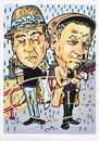 Cartoon: Sid and Tony (small) by Marty Street tagged sid,james,tony,hancock,carry,on,films