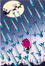 Cartoon: missiles in Christmas (small) by KARRY tagged christmas,missiles