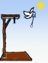 Cartoon: Peace Dove (small) by Babak Massoumi tagged hanging,peace,dove,babak,massoumi,execution,capital,punishment,iran