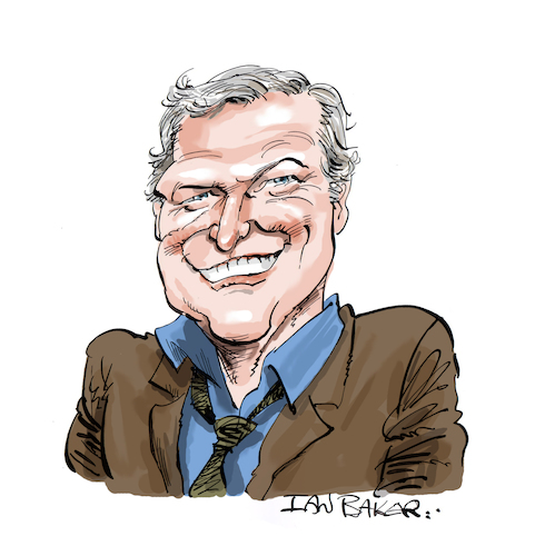 Cartoon: Brian Dennehy (medium) by Ian Baker tagged brian,dennehy,rambo,first,blood,actor,famous,celebrity,ian,baker,caricature,cartoon,hollywood,films,fx,death,of,salesman,miami,vice