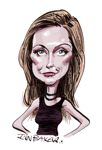 Cartoon: Catherine Schell (medium) by Ian Baker tagged catherine,schell,caricature,ian,baker,cartoon,60s,70s,actor,actress,sci,fi,james,bond,beauty,beautiful,girl,spave,1999