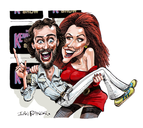 Cartoon: Kenny Everett (medium) by Ian Baker tagged kenny,everett,video,show,cleo,rocos,barry,cryer,bbc,itv,70s,80s,comedy,celebrity,caricature,cartoon,ian,baker,sid,snot