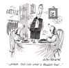 Cartoon: Begged for (small) by Ian Baker tagged restaurant,dog,dogs,meal,food,waiter,begging,complaint,gag,cartoon,ian,baker,magazine,new,humanist