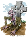 Cartoon: Kate Beaumonts Zombie (small) by Ian Baker tagged zombie,horror,living,dead,scary,halloween,grave,skeleton