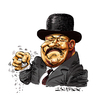 Cartoon: Oddjob (small) by Ian Baker tagged goldfinger,oddjob,james,bond,caricature,harold,sakata,villain,sixties,golf,bowler,hat,connery