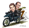 Cartoon: Street Hawk (small) by Ian Baker tagged street,hawk,jesse,mach,norman,tuttle,rex,smith,joe,regalbuto,motorbike,bike,action,tv,caricature