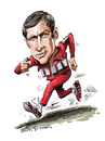 Cartoon: The Six Million Dollar Man (small) by Ian Baker tagged six,million,dollar,man,bionic,lee,majors,seventies,action,70s,tv,caricature,ian,baker,celebrity,tracksuit,adidas