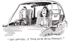 Cartoon: Twitter (small) by Ian Baker tagged twitter,follow,followed,car,couple,drive,social,networking,new,media,internet,ian,baker,cartoon,gag,road,facebook