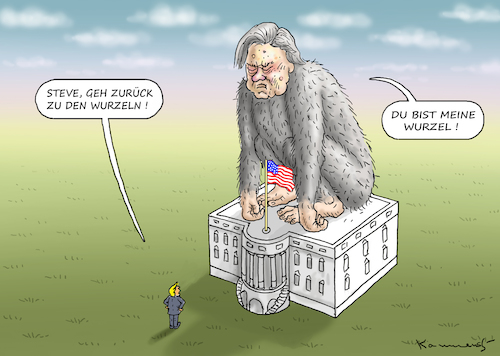 Cartoon: BANNON WILL NICHT (medium) by marian kamensky tagged obama,trump,präsidentenwahlen,usa,baba,vanga,republikaner,inauguration,demokraten,charlottesville,wikileaks,faschismus,obama,trump,präsidentenwahlen,usa,baba,vanga,republikaner,inauguration,demokraten,charlottesville,wikileaks,faschismus
