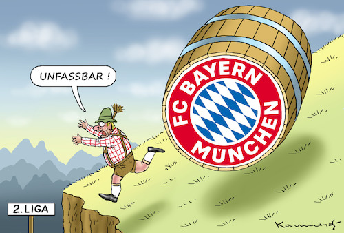 Cartoon: FC BAYERN MÜNCHEN (medium) by marian kamensky tagged fc,bayern,münchen,absieg,fussball,fc,bayern,münchen,absieg,fussball