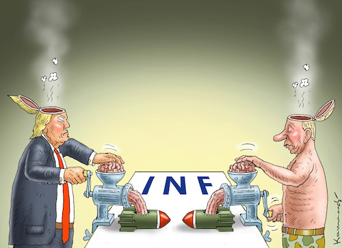 Cartoon: GUTE NACHT FRIEDEN (medium) by marian kamensky tagged obama,trump,präsidentenwahlen,usa,baba,vanga,republikaner,inauguration,demokraten,wikileaks,faschismus,jamal,khashoggi,shutdown,happy,new,year,2019,rüstungsindustrie,inf,vertrag,obama,trump,präsidentenwahlen,usa,baba,vanga,republikaner,inauguration,demokraten,wikileaks,faschismus,jamal,khashoggi,shutdown,happy,new,year,2019,rüstungsindustrie,inf,vertrag