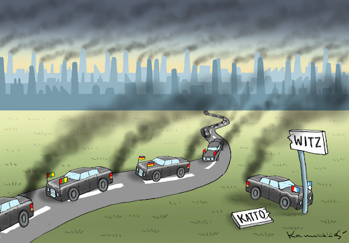 Cartoon: KLIMAWITZ IN KATTOWITZ (medium) by marian kamensky tagged klimakonferenz,in,katowice,co2,polen,naturkatastrophen,klimakonferenz,in,katowice,co2,polen,naturkatastrophen