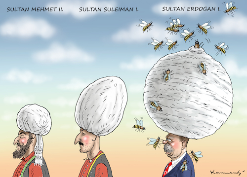Cartoon: OSMANISCHE SULTANE (medium) by marian kamensky tagged erdogans,operation,olivenzweig,syrien,kurden,erdogans,operation,olivenzweig,syrien,kurden