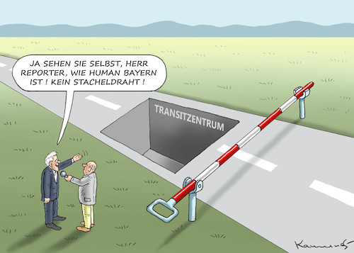 Cartoon: SEEHORST MIT MENSCHLICHEM ANLITZ (medium) by marian kamensky tagged merkel,seehofer,unionskrise,transitzentren,csu,cdu,flüchtlinge,merkel,seehofer,unionskrise,transitzentren,csu,cdu,flüchtlinge