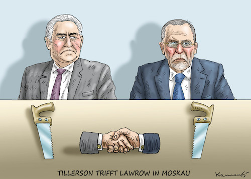 Cartoon: TILLERSON IN MOSKAU (medium) by marian kamensky tagged tillerson,in,moskau,lawrow,tillerson,in,moskau,lawrow
