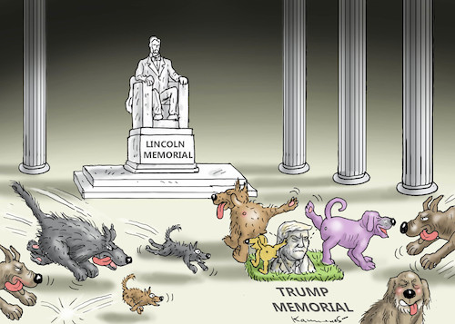 Cartoon: TRUMP- MEMORIAL (medium) by marian kamensky tagged selenskyj,ukraine,rüstungsgeld,trump,wahllampfhilfe,joe,biden,amtsenthebungsverfahren,selenskyj,ukraine,rüstungsgeld,trump,wahllampfhilfe,joe,biden,amtsenthebungsverfahren