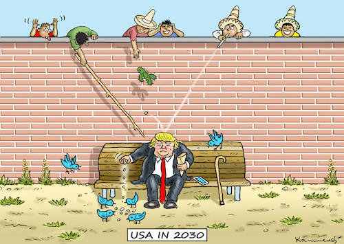 Cartoon: USA IN 2030 (medium) by marian kamensky tagged obama,trump,präsidentenwahlen,usa,baba,vanga,republikaner,inauguration,demokraten,wikileaks,faschismus,obama,trump,präsidentenwahlen,usa,baba,vanga,republikaner,inauguration,demokraten,wikileaks,faschismus