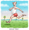 Cartoon: Barefoot shoes (small) by marian kamensky tagged barefoot,shoes,sport,trend,aus,amerika
