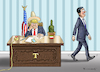 Cartoon: Enrique Pena Nieto besucht Trump (small) by marian kamensky tagged obama,trump,präsidentenwahlen,usa,baba,vanga,republikaner,demokraten,tv,duell,versus,clinton,supermond,enrique,pena,nieto,besuch,faschismus