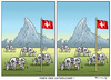 Cartoon: FINDE DEN UNTERSCHIED (small) by marian kamensky tagged schweiz,rechtspopulismus,wahlen
