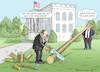 Cartoon: GIULIANI UND TRUMP (small) by marian kamensky tagged trump,porn,scandal,sex,stephanie,clifford,stormy,daniels,corruption,giuliani