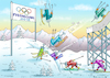 Cartoon: OLYMPISCHE DOPINGWINTERSPIELE (small) by marian kamensky tagged putin,in,pyongchang,2018,olympische,winterspiele,kim,jong,un,pyeongchang