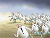 Cartoon: Running (small) by marian kamensky tagged humor