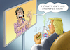 Cartoon: THE NEW SONG OF MICK JAGGER (small) by marian kamensky tagged coronavirus,epidemie,gesundheit,panik,stillegung,trump,pandemie