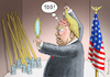 Cartoon: TRUMP 100 TAGE IM AMT (small) by marian kamensky tagged obama,trump,präsidentenwahlen,usa,baba,vanga,republikaner,inauguration,demokraten,100,tage,im,amt,wikileaks,faschismus