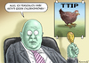 Cartoon: TTIP (small) by marian kamensky tagged ttip,chlorhuhn,freihandelsabkommen,usa,eu