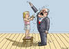 Cartoon: Vater und Tochter Le Pen (small) by marian kamensky tagged charlie,hebdo,terroranschlag,marine,le,pen,todestrafe,paris,karikatur,is