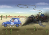 Cartoon: VOLKSWAGENWESTERN (small) by marian kamensky tagged volkswagen,usa,abgasmanipulation