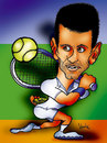 Cartoon: Novak Djokovic (small) by Krzyskow tagged tenis