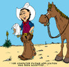 Cartoon: Buckshot by Kid Cardona (small) by kidcardona tagged comic,cartoon,western,horse,cowboy