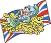 Cartoon: Fish and chips (small) by kidcardona tagged food,fish,chips,fries,england