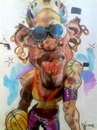 Cartoon: Dennis Rodman earrings. (small) by RoyCaricaturas tagged dennis rodman famous basketball nba