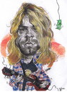 Cartoon: The great Cobain (small) by RoyCaricaturas tagged cobain,nirvana,kurt,rockandroll,music