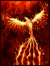 Cartoon: Phoenix (small) by Mikl tagged michael,mikl,olivier,miklart,illustration,tattoo,phoenix,phenix,fire