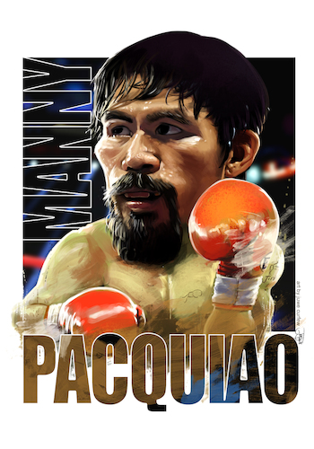 Cartoon: manny pacquiao (medium) by juwecurfew tagged manny,pacuiao,boxer