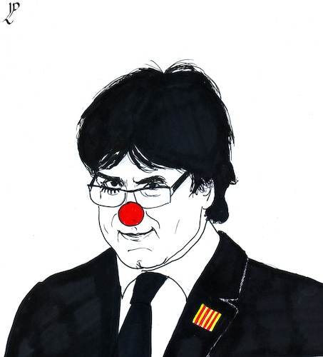 Cartoon: Catalan Circus in Brussels (medium) by paolo lombardi tagged catalonia,spain
