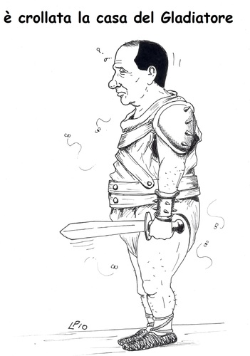 Cartoon: il Gladiatore (medium) by paolo lombardi tagged italy,berlusconi,politics