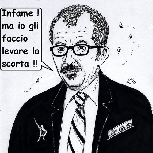 Cartoon: Infamia (medium) by paolo lombardi tagged italy,mafia,politics,minister