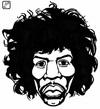 Cartoon: Jimi Hendrix (small) by paolo lombardi tagged rock,music,hendrix