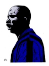 Cartoon: Samuel Eto o (small) by paolo lombardi tagged football,champion,inter,senegal