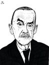 Cartoon: Thomas Mann (small) by paolo lombardi tagged artist