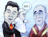 Cartoon: Poppet (small) by OPE tagged pope,puppet,china,dalai,lama