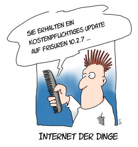 Cartoon: cyberkamm (medium) by Mergel tagged internet,vernetzung,mehrwert,cyber,media,alltag,alltagsgegenstände,cebit,elektronik,kamm,frisur,update